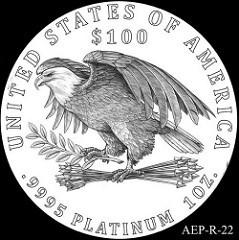 2015-2016 AMERICAN PLATINUM EAGLE REVERSEDESIGNS