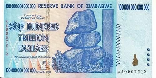 WORTHLESS ZIMBABWE NOTES RISE IN PRICE