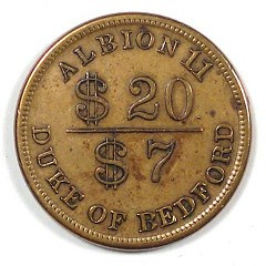 QUERY: COL HARDY CRIER TOKEN ODD DENOMINATION