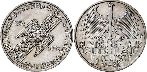 1952 'GERMANISCHES MUSEUM' COMMEMORATIVE COIN