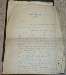 QUERY: WRITER OF GROGAN COLLECTION LETTERS SOUGHT