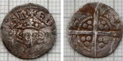 ARCHAEOLOGISTS FIND EDWARD I HAMMERED HALFPENNY