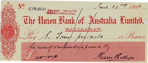 QUERY: AUSTRALASIAN BANK CHEQUE INFORMATION SOUGHT