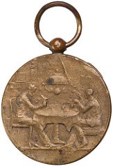 QUERY: WHAT DOES THIS MEDALET'S INSCRIPTION MEAN?