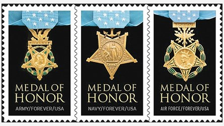 MEDALS ON STAMPS
