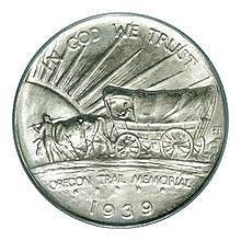 OREGON TRAIL HALF DOLLAR: OBVERSE AND REVERSE