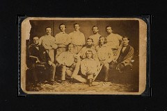 1860 BROOKLYN ATLANTICS BASEBALL CARD SURFACES