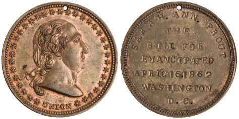 SARAH ANN PROUT EMANCIPATION DAY TOKEN