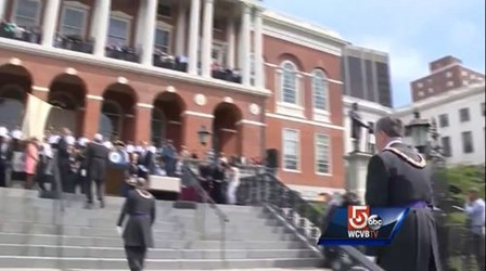TIME CAPSULE RETURNED TO MASSACHUSETTS STATEHOUSE