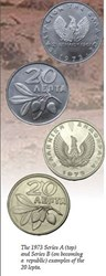 THE 1973 SERIES A AND B COINS OF GREECE