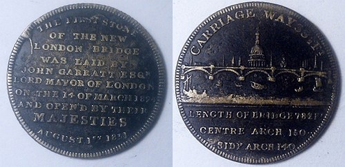 MEDALLIC REMEMBRANCES OF LONDON BRIDGE