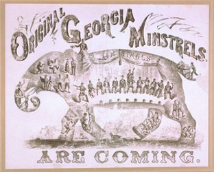 SPRAGUE & BLODGETT'S GEORGIA MINSTRELS COUNTERSTAMP