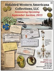 HOLABIRD WESTERN AMERICANA AUCTION SEPTEMBER 2015
