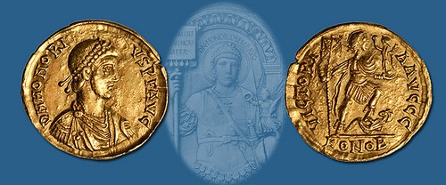 RARE SOLIDUS OF EMPEROR HONORIUS OFFERED