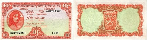THE IRISH LADY LAVERY BANKNOTES OF 1928-1977