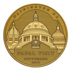 MEDAL TO COMMEMORATE POPE FRANCIS' VISIT TO AMERICA