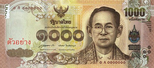 THAILAND ISSUES NEW 1,000 BAHT BANKNOTE