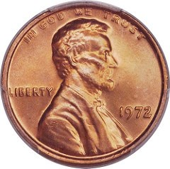 COUNTERFEIT 1972 DOUBLED DIE LINCOLN CENT