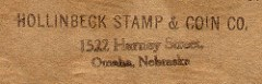 HOLLINBECK COIN SHOPS COIN BOARD STAMPS