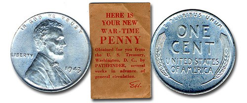 A FIRST-RELEASE 1943 STEEL CENT ENVELOPE