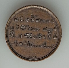 MORE ON THE 1848 REBUS PUZZLE MEDAL