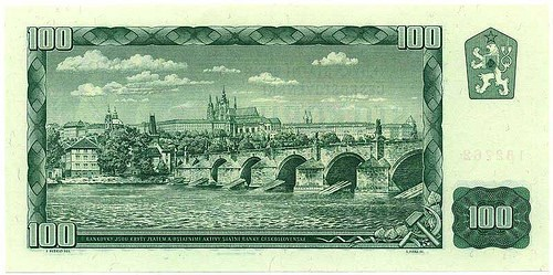 THE HAPPY COUPLE ON CZECHOSLOVAK MONEY
