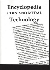 BOOK REVIEW: ENCYCLOPEDIA OF COIN AND MEDAL TECHNOLOGY