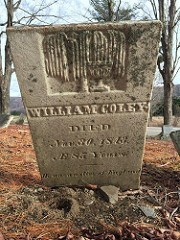 GRAVESIDE CEREMONY FOR COLONIAL MINTER WILLIAM COLEY