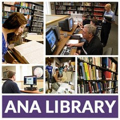 HOWARD DANIEL VISITS THE ANA LIBRARY