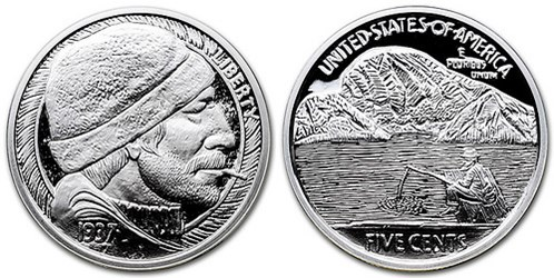 SILVER ROUNDS FEATURE HOBO NICKEL DESIGNS