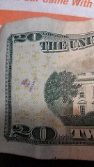 MORE CHOPMARKS ON MODERN U.S. PAPER MONEY
