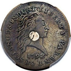 THE WILLMOTT-OGHIGIAN 1792 SILVER CENTER CENT