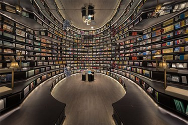 MIRROR-FILLED BOOKSTORE SEEMS NEVER-ENDING