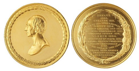 MORE ON THE GOLD HENRY CLAY U.S. MINT MEDAL