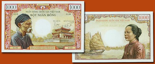SOUTH VIET NAM 1000 DONG BANKNOTE OFFERED