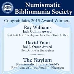 NEWMAN NUMISMATIC PORTAL WINS NLG AWARDS