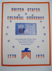 RALPH MORGAN'S 1976 COLONIAL CURRENCY BOOK