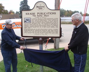 KRAUSE PUBLICATIONS HISTORICAL MARKER UNVEILED