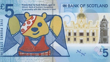 SPECIAL SERIAL NUMBER PUDSEY NOTE SOLD