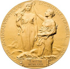 WITTIG GOLD NOBEL PRIZE MEDAL UP FOR SALE