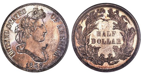 U.S. SILVER PATTERNS OF 1859