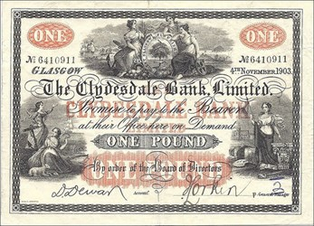 CLYDESDALE BANK NOTES