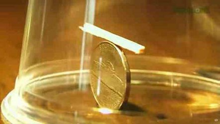 COOL BAR TRICK WITH NICKEL AND MATCHSTICK