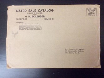 M. H. BOLENDER AUCTION SALE CATALOGS