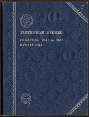 WHITMAN JEFFERSON NICKEL FOLDER PRINTING PLATE