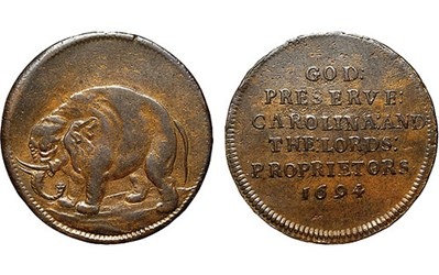 SOUTH CAROLINA ELEPHANT TOKEN AT KNOWSLEY HALL