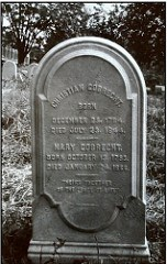 "CHRISTIAN GOBRECHT HEADSTONE ""FOUND"""