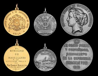PILOT LUIS PARDO'S SHACKLETON EXPEDITION MEDALS
