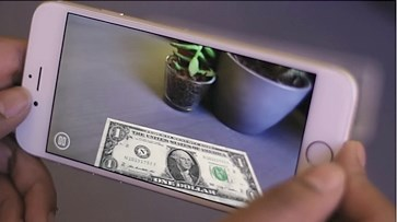 1600 SMARTPHONE APP TRANSFORMS $1 BILL