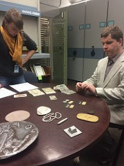 THE BLIND COIN COLLECTOR VISITS SMITHSONIAN